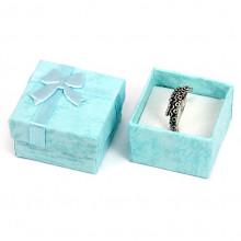 BOX005-1 Коробка для кольца квадратная 4х4х2,5см, цвет голубой