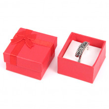 BOX005-2 Коробка для кольца квадратная 4х4х2,5см, цвет красный