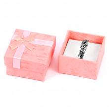 BOX005-4 Коробка для кольца квадратная 4х4х2,5см, цвет розовый