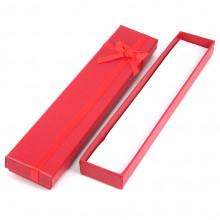 BOX006-2 Коробка для бижутерии 21х4х2см, цвет красный
