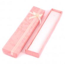 BOX006-4 Коробка для бижутерии 21х4х2см, цвет розовый