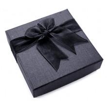 BOX009 Коробка для браслета 90x90x27мм, цвет чёрный