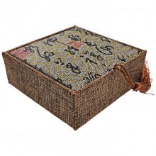 BOX011-5 Коробка для браслета 10х10см, цвет зелёный