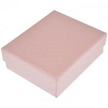BOX012-1 Коробка для бижутерии 9х7х3см, цвет розовый