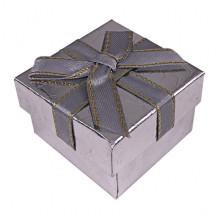 BOX014-03 Коробка для колец, 3х5х5см, цвет серебро