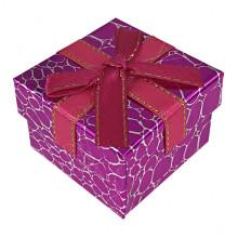 BOX014-04 Коробка для колец, 3х5х5см, цвет розовый
