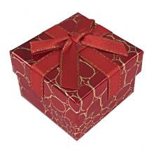 BOX014-05 Коробка для колец, 3х5х5см, цвет красный