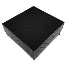 BOX015 Коробка для бижутерии, 3х7х7см, цвет чёрный
