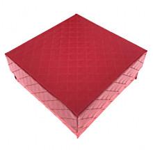 BOX016 Коробка для бижутерии, 3х7х7см, цвет красный