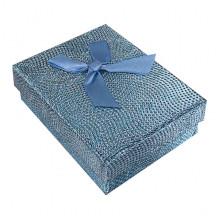 BOX017-06 Коробка для бижутерии, 3х7х9см, цвет бирюзовый