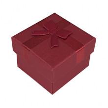 BOX018-01 Коробка для колец, 2,5х4х4см, цвет красный