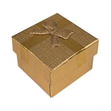 BOX018-03 Коробка для колец, 2,5х4х4см, цвет золотой