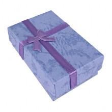 BOX021-01 Коробка для бижутерии, 2,5х5х8см, цвет голубой