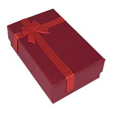 BOX021-07 Коробка для бижутерии, 2,5х5х8см, цвет красный