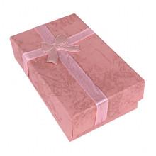 BOX021-09 Коробка для бижутерии, 2,5х5х8см, цвет розовый