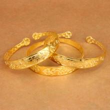 BS021-G Этнический браслет, металл, цвет золот.