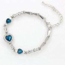 BS182 Браслет Сердце Океана, цвет серебр.
