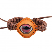 BS390-1 Кожаный браслет Глаз, ширина 30мм