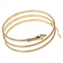 BS399 Браслет Змея, цвет золотой