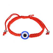 BS484 Плетёный браслет от сглаза из красной нити