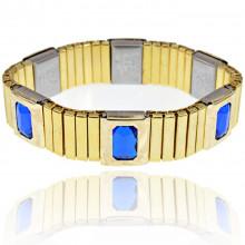 BSM017-1 Магнитный браслет 15мм, цвет синий