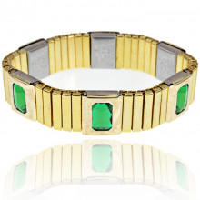 BSM017-2 Магнитный браслет 15мм, цвет зелёный