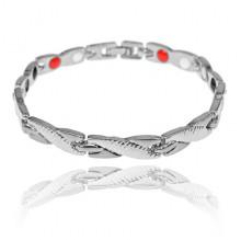 BSM022-5 Магнитный браслет, 20,5см, цвет серебряный
