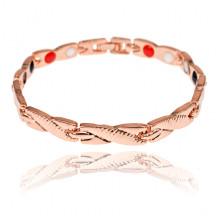 BSM022-6 Магнитный браслет, 20,5см, цвет розово-золотой