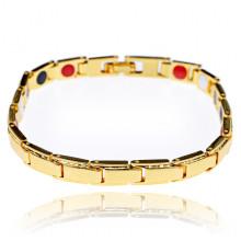 BSM024-2 Магнитный браслет, 19,5см, цвет золотой