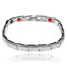 BSM024-4 Магнитный браслет, 19,5см, цвет серебряный