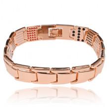 BSM027-4 Магнитный браслет, 21,5см, цвет розово-золотой