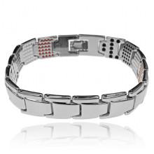 BSM027-5 Магнитный браслет, 21,5см, цвет серебряный