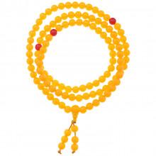 CH017-1 Чётки буддийские 108 бусин d.8мм, акрил, жёлтые