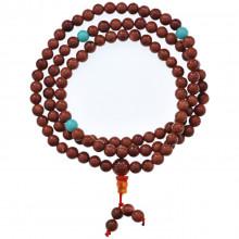 CH037-6 Чётки с Гуру-бусиной, коричневый авантюрин