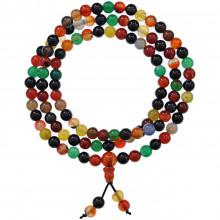 CH037-9 Чётки с Гуру-бусиной, цветной агат