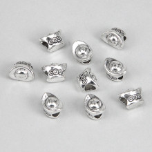FBE0006S Бусины для европейских браслетов Слиток 11мм, 10 шт., цвет серебр.