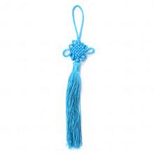 FEP018-01 Подвеска Фэн-Шуй Узел 21см, цвет голубой
