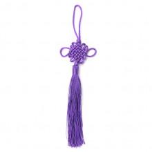 FEP018-02 Подвеска Фэн-Шуй Узел 21см, цвет фиолетовый