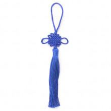 FEP018-08 Подвеска Фэн-Шуй Узел 21см, цвет синий