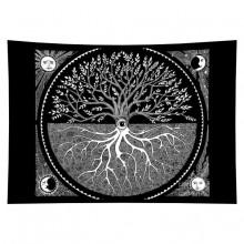 GB035 Гобелен Дерево жизни (чёрно-белое) 95х73см
