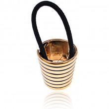 HZ026 Зажим для волос с резинкой, 4см, цвет золотой
