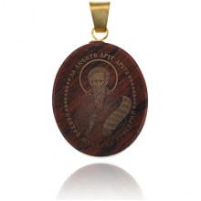 IK003-045 Именная иконка из обсидиана 27x22мм Григорий