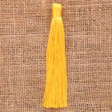 KIS001-01 Кисточка из ниток 12см, цвет Жёлтый