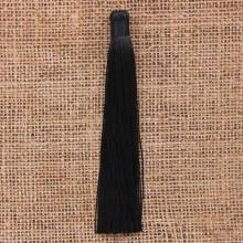 KIS001-07 Кисточка из ниток 12см, цвет Чёрный