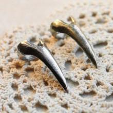 KL042-S Кольцо Коготь, размер 15мм, длина 34мм, цвет серебр.