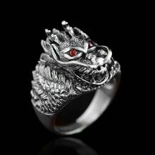KL085-10 Кольцо Дракон, размер 10