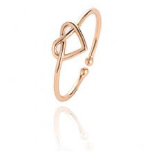 KL117-G Безразмерное кольцо Сердце, цвет золотой