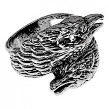 KL138-11 Кольцо Вороны Одина, размер 21