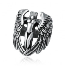 KL152 Кольцо Ангел, безразмерное