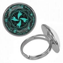 KLB007 Кольцо Магическая печать безразмерное